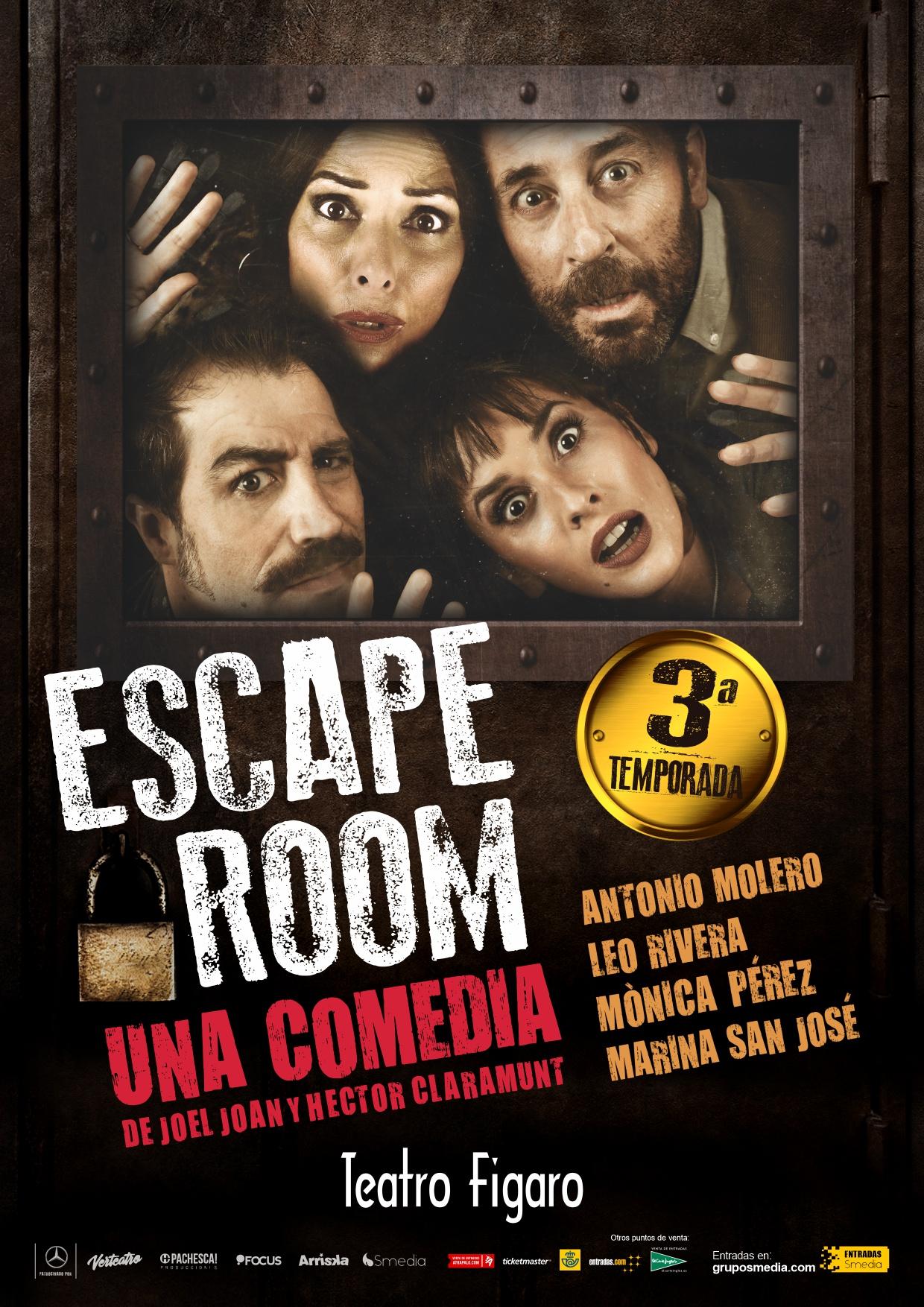 Escape Room en el Teatro Fígaro.