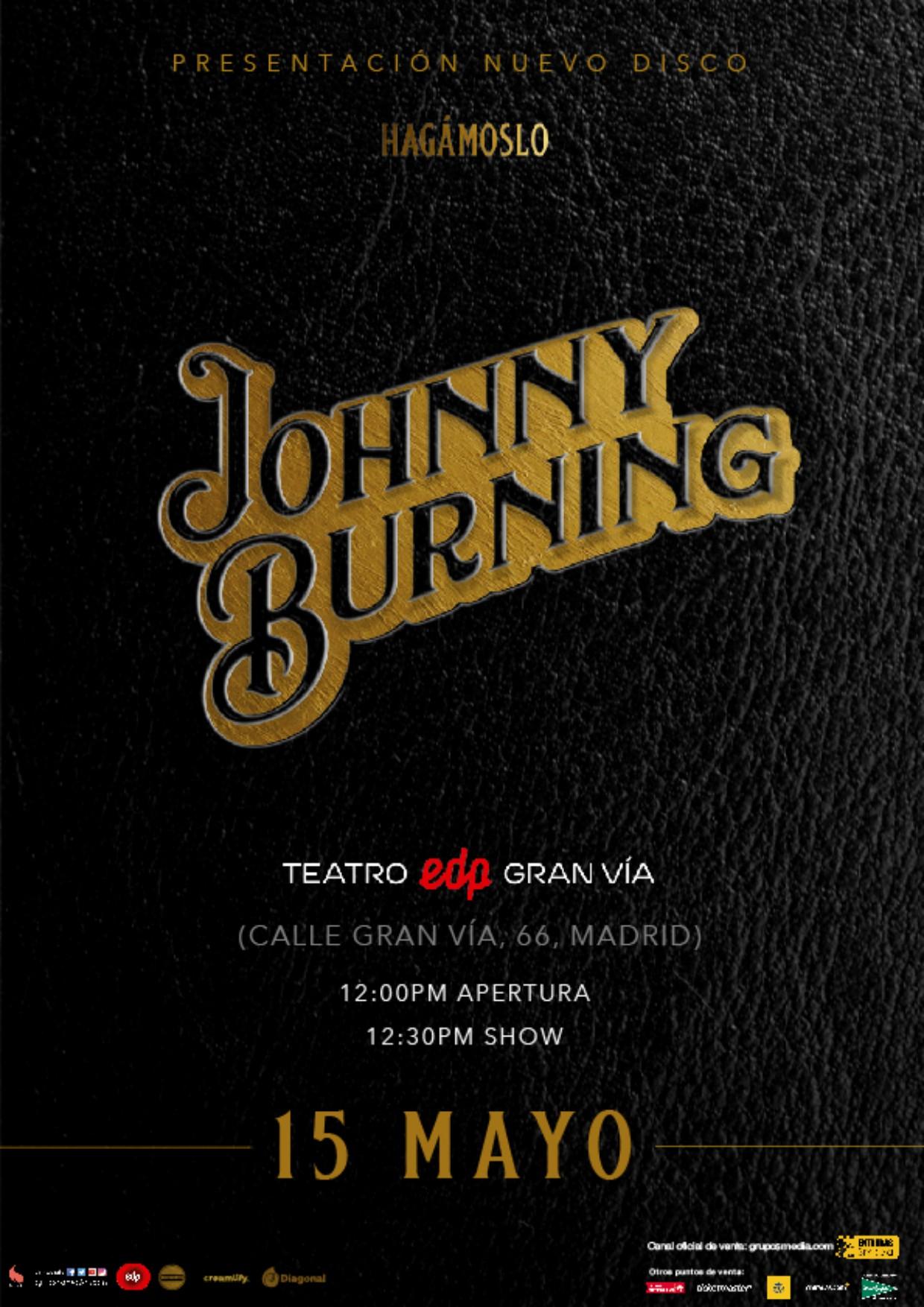 Johnny Burning en concierto - Grupo Smedia