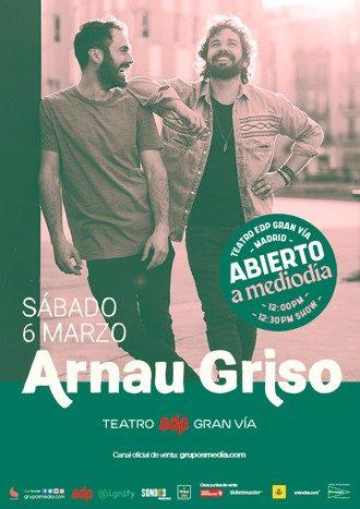 Arnau Griso en concierto - Abierto a mediodía