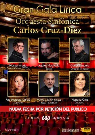 Gran gala lírica Orquesta sinfónica Cruz-Diez